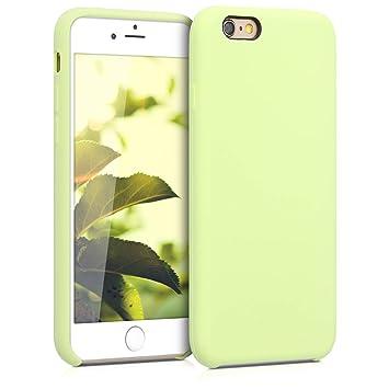 kwmobile Funda para Apple iPhone 6 / 6S - Carcasa de [TPU] para teléfono móvil - Cover [Trasero] en [Verde Pistacho]