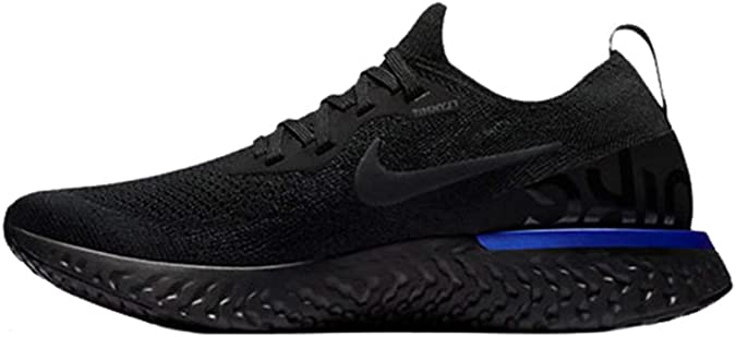 Nike Wmns Epic React Flyknit, Zapatillas de Deporte para Mujer, Multicolor (Black/Black-Racer Bl 004), 44.5 EU: Amazon.es: Zapatos y complementos