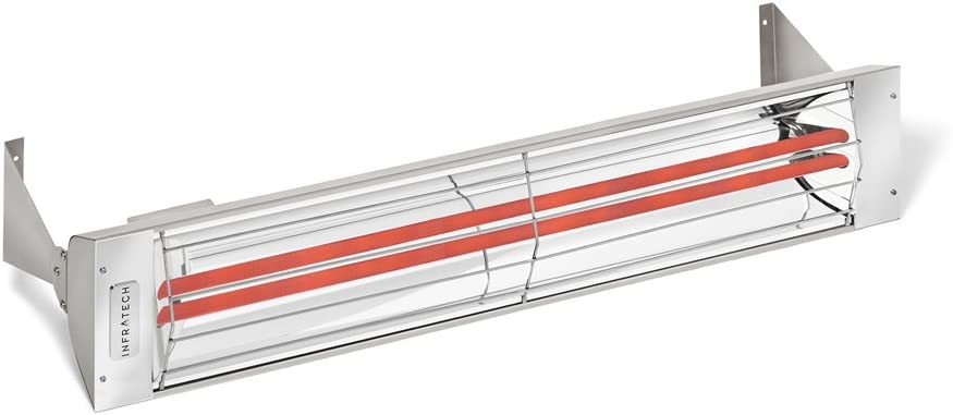 Infratech WD3024SS Dual Element 3,000 Watt Electric Patio Heater, Choose Finish Stainless Steel