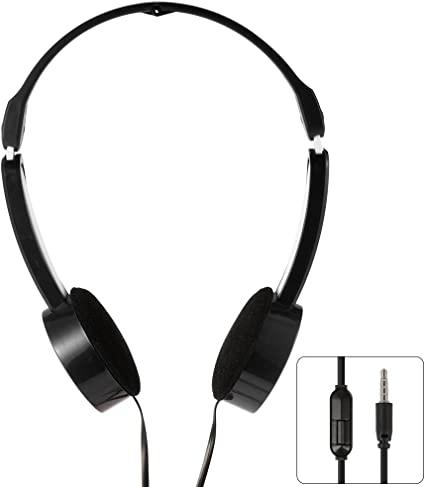 XCSOURCE 3.5mm Casques Ecouteurs de Musique Casque Ecouteurs de sur Oreille Enfants Contrôle de Ligne Évolutif Pliable Universel MP3 Noir TH338