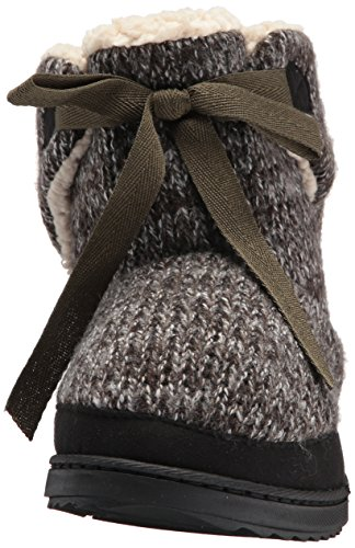 Boot Knit Black Dearfoams Marled Women's Tie Front wq0fqRX6x