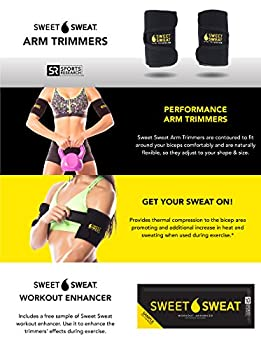 Sports Research Sweet Sweat Premium Arm Trimmers For Men & Women | Helps Improve Circulation & Sweating | Includes Free Breathable Mesh Carrying Case (Yellow, Large) 6