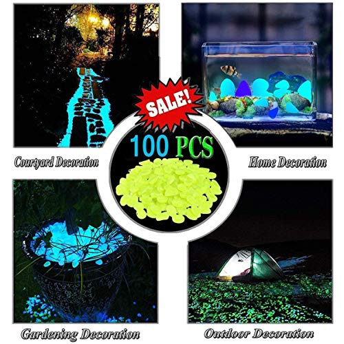 - LLOP Glow in The Dark Garden Pebbles for Walkways Outdoor Decor Aquarium Fish Tank Path Lawn Yard, Glow Stone Rocks Outdoor Garden Decorative Stones