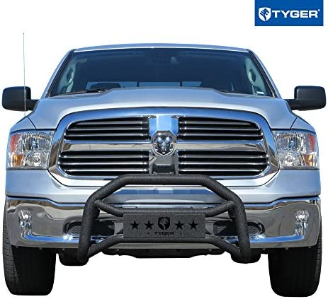 Galaxy Auto 3 Bull Bar for 2009-18 Dodge Ram 1500 Excluding Rebel Chrome - Stainless Steel Bumper Grille Guard