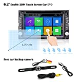 6.2″ Double DIN Car Stereo Car GPS Navigation – Ehotchpotch Car Radio Head Units Touch Screen Car DVD Player In-dash Car Audio AM/FM Radio Bluetooth USB SD iPod With Backup Camera