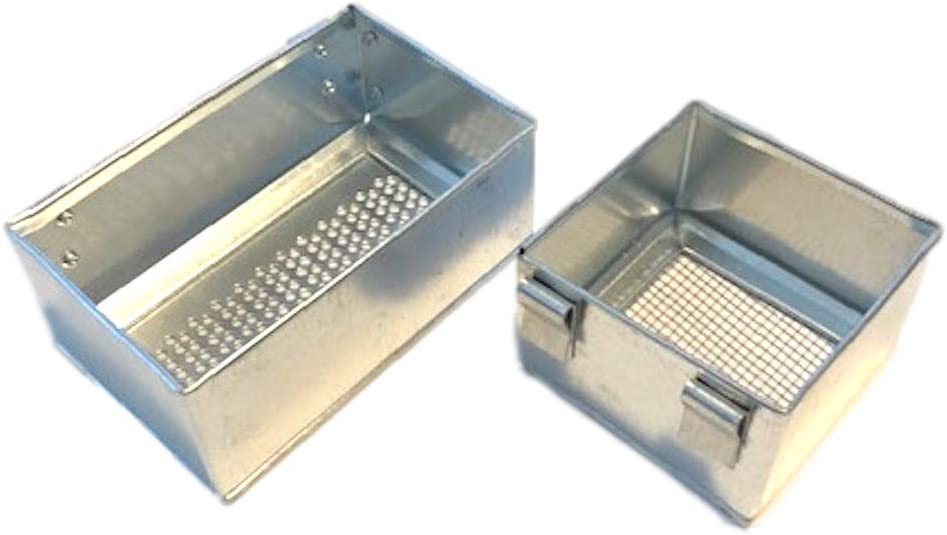 All Things Bunnies Galvanized Perforated Box Feeder