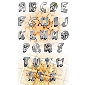 Alphabets+ Numbers DIY Cookie Cake Stainless Steel Bake Cutter Molds Set