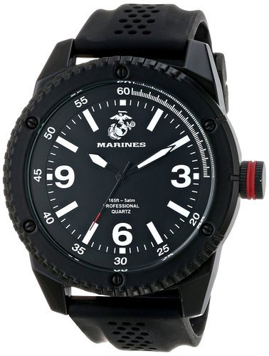 Wrist Armor Mens 37100001 U S  Marine Corps C20 Analog Display Japanese Quartz Black Watch