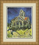 """Church at Auvers"" by Vincent Van Gogh - Framed Artwork"