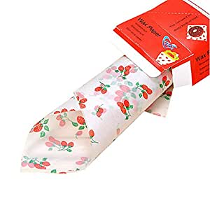 Cute Strawberry Baking Papers Grease-Proof Wax Papers, 30 Pcs