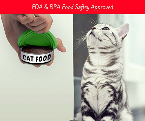 CAN COVER FOR PET FOOD – Pack of Two – FDA Approved Silicone Lids For Cat & Dog Food – Food Covers Seals the Can to… Click on image for further info. 3