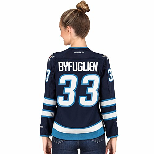 Reebok Dustin Byfuglien Winnipeg Jets NHL Navy Blue Official Premier Edge Home Jersey For Women (M)