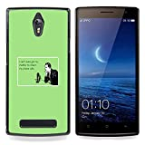 SKCASE Center / Hard Skin Case Cover Pouch - Mother Technology Relationships Quote - OPPO Find 7 X9077 X9007