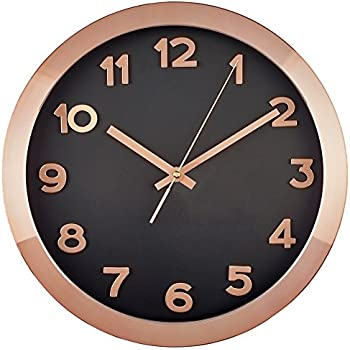 Amazon Com Bernhard Products Large Wall Clock 14 Quot Rose