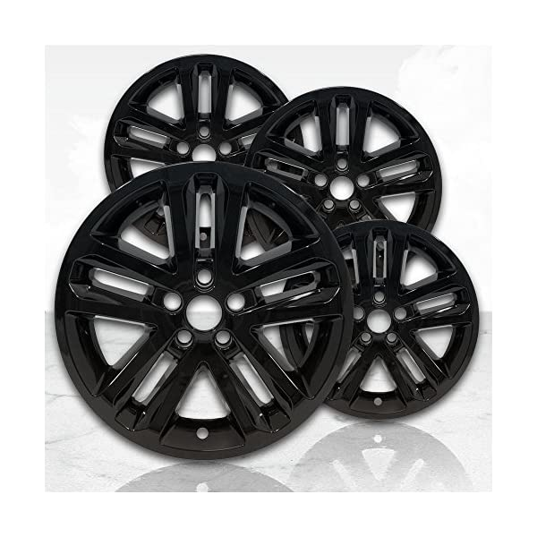 Upgrade-Your-Auto-18-Gloss-Black-Wheel-Skins-Set-of-4-for-2011-2017-Ford-Explorer-3859