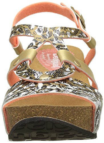 Desigual Damen Bio 9 Save the Queen Sandalen Gold (gold 8010)