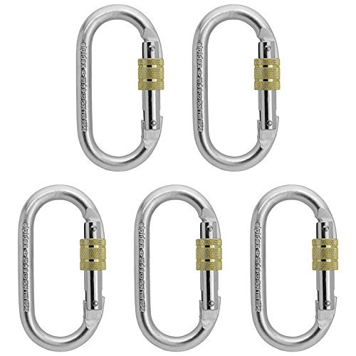 5 x Oval Steel Carabiner Lion by Alpidex by Alpidex