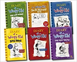Diary of a wimpy kid collection 6 books set rrp 4594 the ugly flip to back flip to front solutioingenieria Choice Image