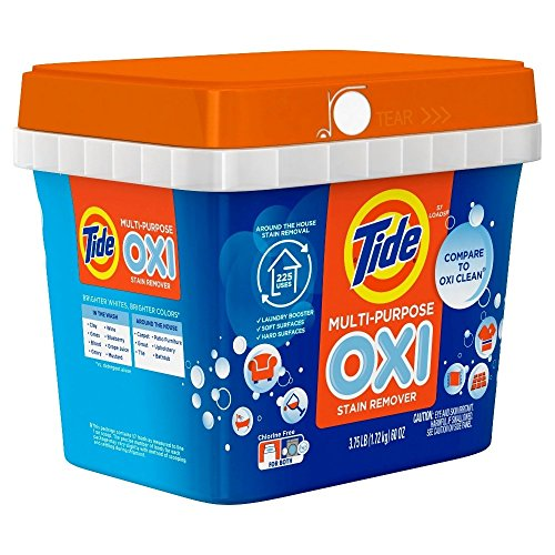 Tide Multi-Purpose Oxi Stain Remover Powder, Chlorine Free, 57 Loads, 60 Ounce (2 -