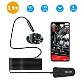 Wireless Endoscope iPhone, WiFi Borescope Inspection Camera 2.0MP CMOS HD with 1000mAh Battery, with Image Rotatable(2018 Newest), IP68 Waterproof Snake Camera for Android, iOS, Windows