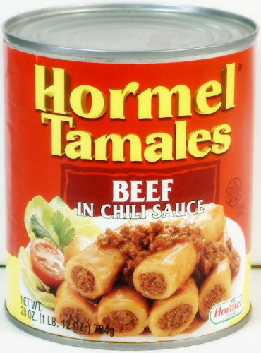 Hormel Tamales Beef in Chili Sauce 28 oz. can, pack of 3