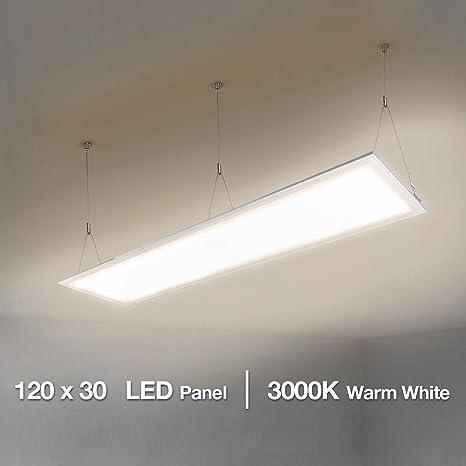 Illuminazione Per Ufficio.Le Pannello Led Slim 300 X 1200mm Plafoniera Da Ufficio 4000lumen 40w Equivalente A Luce Fluorescente Da 80 W Bianco Caldo 3000k Lampada A