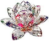 Crystal Sparkle Crystal Lotus Flower Feng Shui Home Decor (RAINBOW COLOR)