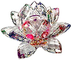 Crystal Lotus Flower Feng Shui with Gift Box