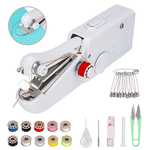Coquimbo Handheld Sewing Machine with Sewing Basic Accessiores, Mini Electric Sewing Machine Quick Handy Stitch for Home and Travel Use