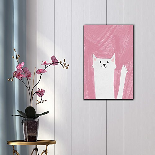 Hand Drawing Style Animal Cute White Cat