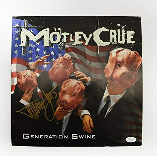 Tommy Lee Motley Crue Autographed Signed Album Display Cover Authentic COA - JSA Certified