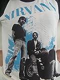 BUNNY BRAND Womens Rock Band Nirvana Kurt Cobain Group Photo Music T-Shirt