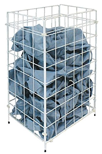 racon m-waste Abfallkorb Papierkorb Sammelkorb Metall weiß - ca. 30 Liter Volumen - für Boden o. Wand