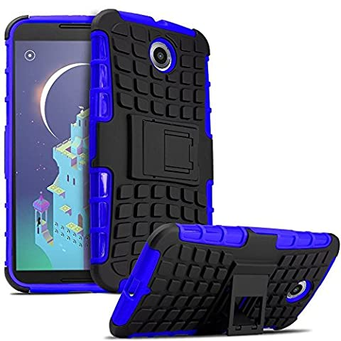 Nexus 6 Case,google Nexus No5case Super Protection[heavy Duty][shockproof][kidproof] with Kickstand,pc + Silicone Phone Case for Google Nexus 6 (Nexus 6 Cell Phone Case)