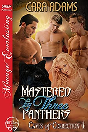 book cover of Mastered by Three Panthers