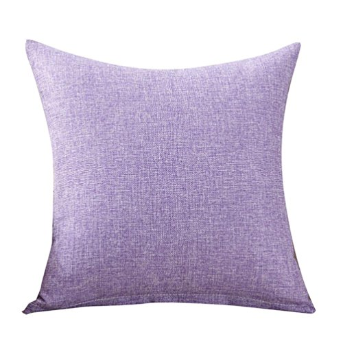 Pillow Cover, ღ Ninasill ღ Hot Sale ! Exclusive Simple Fashion Throw Pillow Cases Cafe Sofa Cushion Cover Home Decor (Purple)