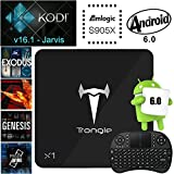 [Free Wireless Keyboard] J-DEAL® X1 Android 6.0 Marshmallow Amlogic S905X Quad Core Android TV Box Kodi 16.1 Fully Loaded Add-ons 2G/8G Bluetooth 4.0 4K Blu Ray Streaming Stick Media Player OTA Update