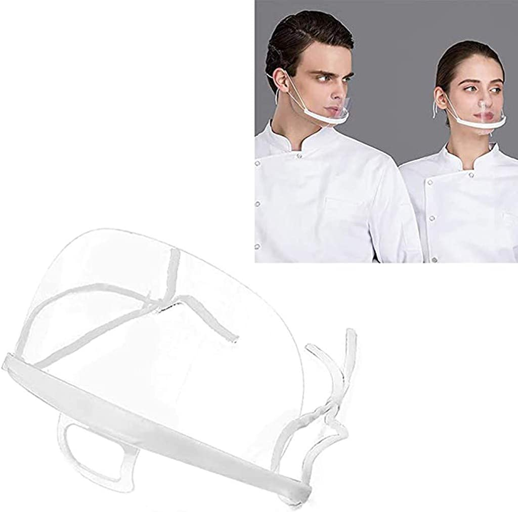 Blingko Housse de visage lavable en plastique transparent pour femme et homme