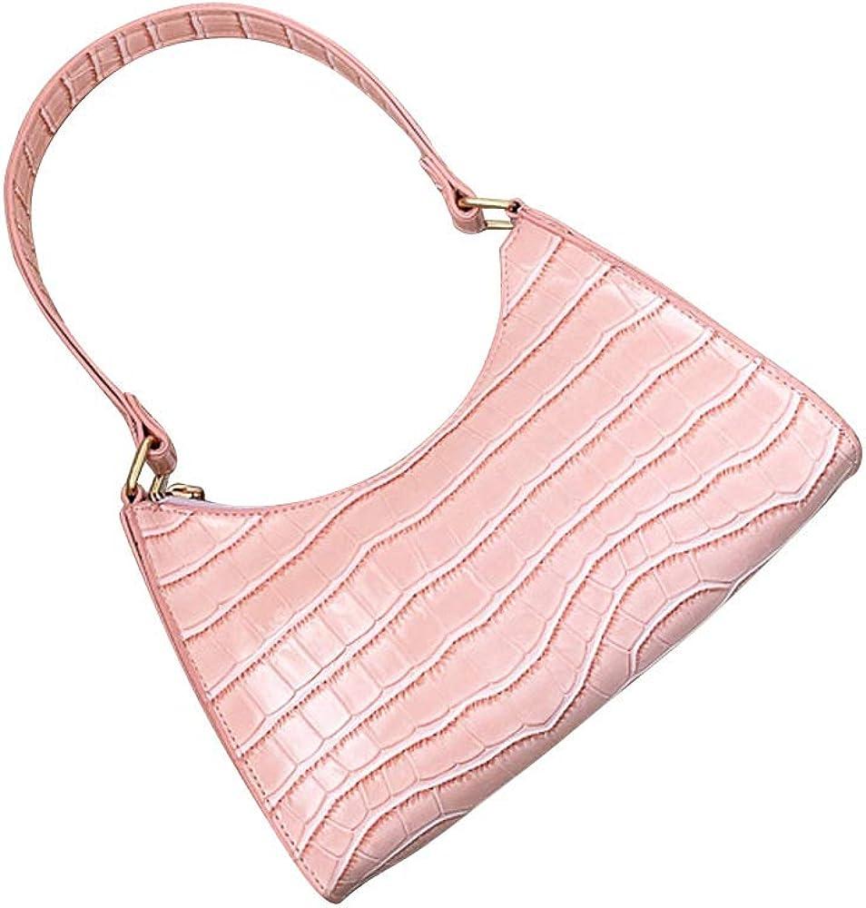 Retro Alligator PU Handbag Women Solid Flap Totes Shoulder Underarm Bags Handbag