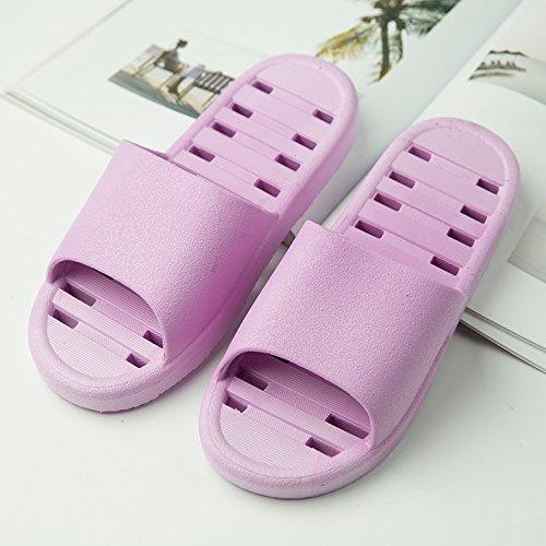 sandali scarpe scarpe uomini Violet YMFIE bagno Doccia piscina home bagno da pantofole suola scarpe schiuma ladies' antislittamento morbida H8Cq8OE