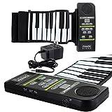 Skque 88 Keys USB Roll Up Silicone Digital Electronic Piano Keyboard w/ Loud Speaker