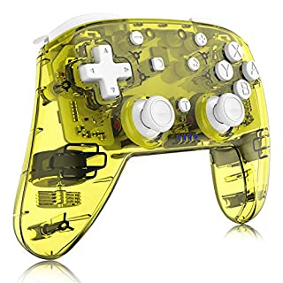 Switch Pro Controller, Remote Gamepad Joystick for Nintendo Switch/Switch Lite, with Motion Vibration Turbo Speed Function and Gyro Axis (Candy Yellow)