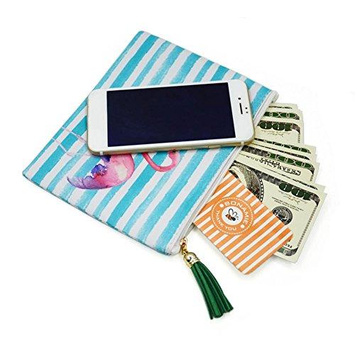 Bags Bag Tassel Pineapple Versatile Domybest Phone Stripe Women Clutch Fashion Makeup Beach anBtXfvq