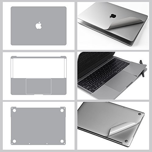 2019春の新作 JRC Clear Premium Inch(A1708 5-in-1 Full-sized Body 3M High Vinyl Protective Sticker Skin Decal for MacBook Pro 13 Inch(A1708 No TouchBar 2016/2017) with High Clear Screen Protector- Gray [並行輸入品] B0789758JM, 久留米絣 儀右ヱ門:e5a53e85 --- a0267596.xsph.ru