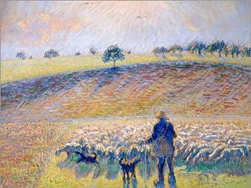 Cuadro de Aluminio 40 x 30 cm: Schafhirte mit Herde (Berger Avec Moutons). 1888 de Camille Pissarro/ARTOTHEK