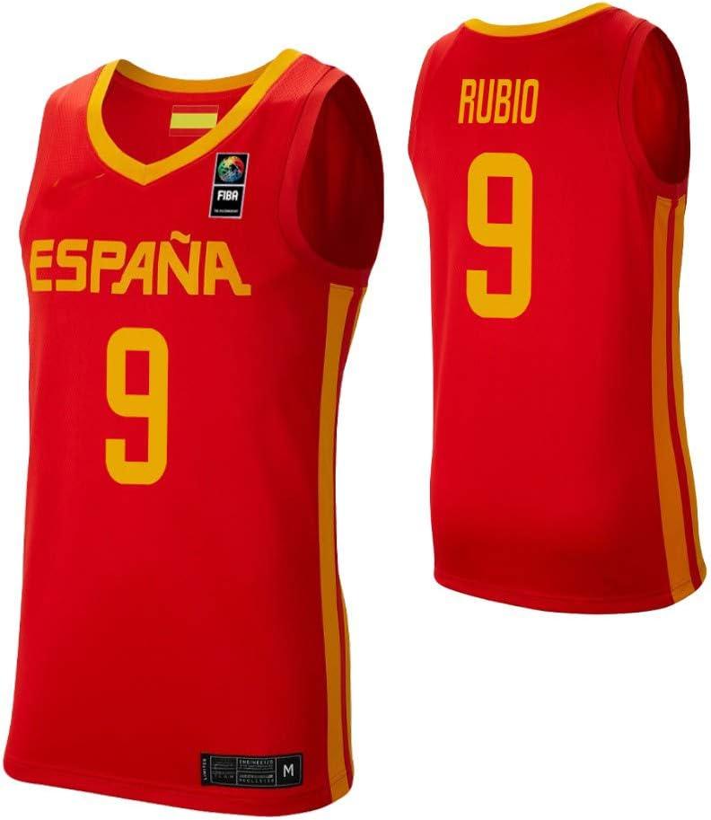 K&A Camiseta Ricky Rubio Selección Española de Baloncesto Rojo 2019 Hombre (Rojo, XL): Amazon.es: Deportes y aire libre