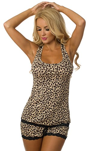 Velvet Kitten Flirty Shorts Set 562856-2439 Medium Leopard