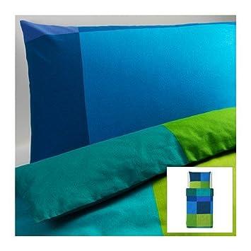 Ikea Brunkrissla Bettwäscheset 2tlg Blaugrün 140cm X 200cm Und