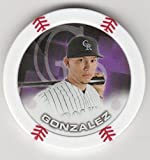 2014 Topps Poker Chipz Carlos Gonzalez Colorado Rockies