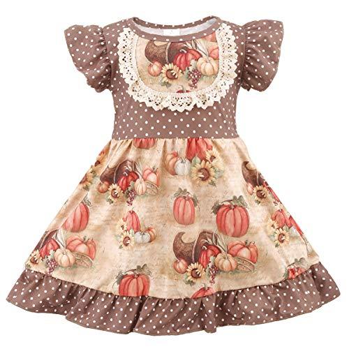 belababy Girl Halloween Skirt, Pumpkin Dress, Boutique Clothing Cosplay for Girls 3T
